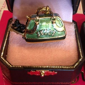 Juicy Couture Yorkie Dog Carrier Bag Purse Charm
